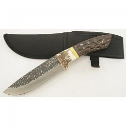 """New 11"""" Full Tang Hunting Knife Stag Handle With Sheath 5200"""