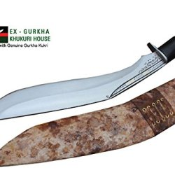 "Hand Forged Blade Khukri - 13.5"" Blade Cheetlage Light Version Kukri Or Traditional Bushcraft Khukuris By Ex Gurkha Khukuri House In Nepal"