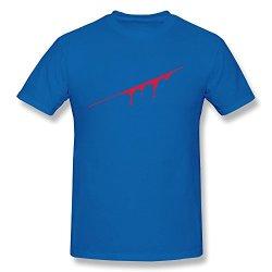 Tasy 100% Cotton Men'S Splatter T-Shirt - Xl Royalblue