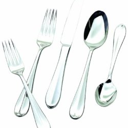 Hampton Forge Silversmiths Lexington Mirror 48-Piece Flatware Set With Steak Knives, 290Z0482Nd
