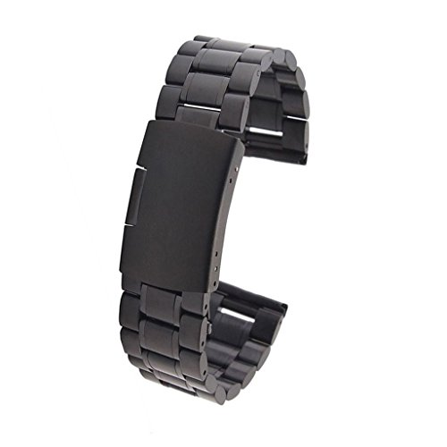 DHMXDC-22mm-Silver-Mesh-Stainless-Steel-Watchband-for-Motorola-Moto-360-ASUS-Zenwatch-LG-G-Watch-W100-W110-Urbane-W150-Black
