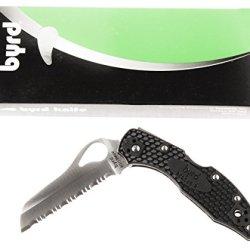 Spyderco Byrd Meadowlark2 Rescue Black Frn Spyderedge Knife