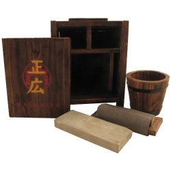 Tenryu Ma-Sh1 Sword Sharpening Kit Include Sharpening Stone Sanding Block And Bucket