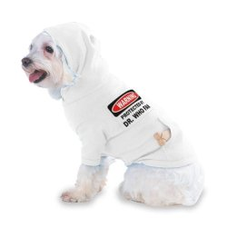 Protected By Dr. Who Fan Hooded (Hoody) T-Shirt With Pocket For Your Dog Or Cat Xs White