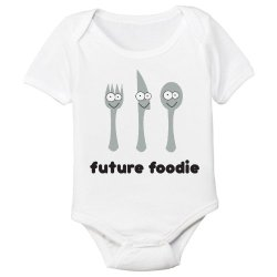 Future Foodie Organic Cotton Baby Bodysuit (6-12M)