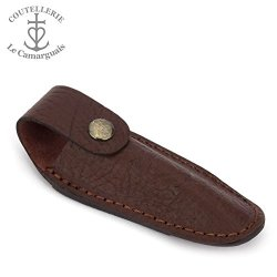 Le Camarguais Brown Leather Belt Pocket For 10/11/12 Cm Knives - Knife Case - Quality Sheath