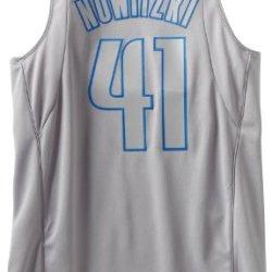 Nba Dallas Mavericks Winter Court Big Color Swingman Jersey, #41 Dirk Nowitzki, Grey, Xx-Large