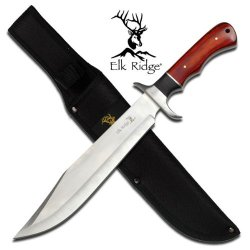 "Er-255 Elk Ridge Full Wnolvmw Tang Alwjv Bowie Knife With Sheath 14"" Overall Ayeuiu56 Hlbv23Rt 14 Inch Overall Elk Ridge Full Tang Bowie Knife With Nylon Ypl6Yjybyj Sheath. 14 Inch Overall In Length. Features R1Yxn Black And Red Wood Handle."