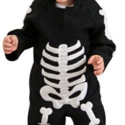 Rubie'S Costume Baby Skeleton Romper Costume, Black/White, 6-12 Months