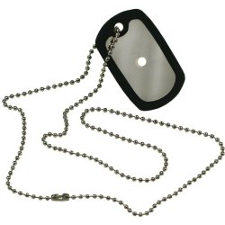 Pepperell Paracord Survival Accessory Dog Tags With Chain