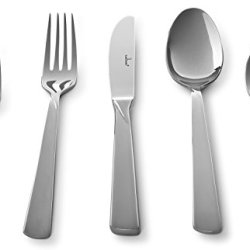 Culina Verano 20 Pcs Flatware For 4 18/10 Stainless Steel Silverware , Mirror Finish