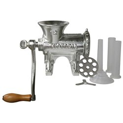 Victoria Manual Meat Grinder And Sausage Stuffer, Number 12, Cast Iron, Tabletop Meat Mincer And Sausage Maker