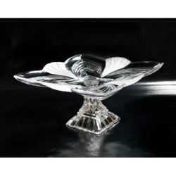 Fifth Avenue Crystal Aurora Ruby Pedestal Plate