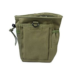 Tenflyer Portable Small Nylon Drawstring Recycling Storage Accessories Bag (Army Green)