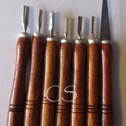 7 Pc Soap Carving Knives Set