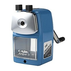 Carl Angel-5 Pencil Sharpener, Blue, Quiet For Office, Home And School