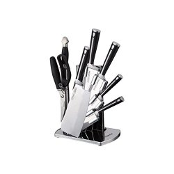 Peterhof 8Pc Knives Set With Acrylic Block 18/10 Stainless Steel Ph-22381