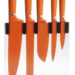 Trudeau 5-Piece Knife Block Set, Orange