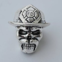 The Hellfire Firefighter Paracord Lanyard Skull Bead