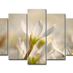 5 Panel Wall Art Painting Spring Flower Bloom Prints On Canvas The Picture Flower Pictures Oil For Home Modern Decoration Print Decor