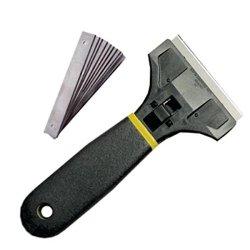 "Decal Razor Scraper - 4"" Wide Blade - 10 Blades"