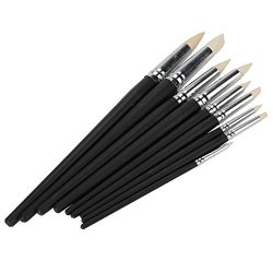 Clay Color Shapers Black Wood Shank Pottery Painting Tools Pack Of 9
