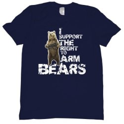 I Support The Right To Arm Bears Tee Shirt Mens Xl Navy U