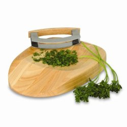 Picnic Time 897-00-505 Herb Chop Block - Natural Wood