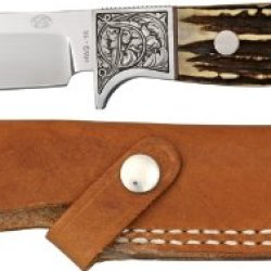 Rock Creek Pronghorn Skinner Fixed Blade Knife With Stag Handle