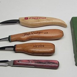 5Pc Wood Carving Knives Helvie Floyd Rhadigan Flexcut Formax Compound Ramelson