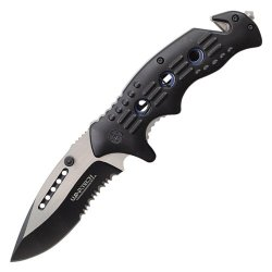 Spring Assisted Rescue Knife Wartech Yc-S-7014-Bl