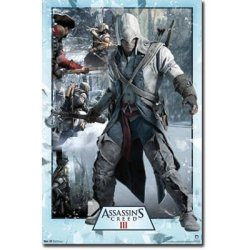 Laminated Assassin'S Creed 3 - Collage Video Game Poster - 22X34