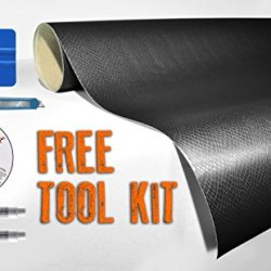 Black Snake Skin Leather 5Ft X 50Ft Vvivid8 Vinyl Wrap Roll With Air Release Technology With Free Tool Set Kit Included