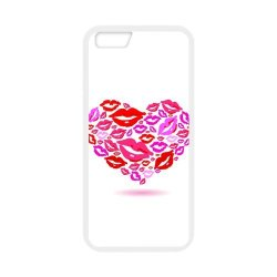 Diy Personalized New Custom Cute Cartoon Sexy Red Kiss Lips Lipstick Pattern Design Cell Phone Case Cover For Apple Iphone 6 Plus Case 5.5 Inch Case Hard Plastic Mobile Phone Case Protective Shell