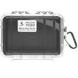 Black 1020 Micro Case With Clear Lid And Carabineer Black 1020 Micro Case With Clear Lid And Carabi