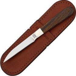 Bear & Son Letter Opener Fixed Blade Knife, Ss Wharncliffe Blade, Desert Iron Wood Handle K2Loe