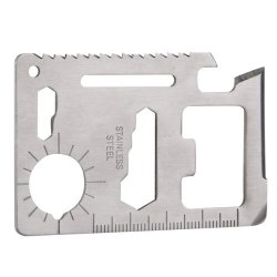 Generic 11 In 1 Multifunction Tool Card Survival Knife Camping Tool Pack Of 30Pcs