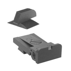 """Bomar Bmcs 1911 Kensight Sight Set With Rounded Blade - Serrated 0.190"""" Front Sights"""