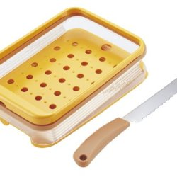 Kai Bready Select Slant Bread Slicer Guide & Bread Knife Set (Ac-0071)