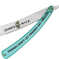 Miscellaneous Zombie Nick Straight Folding Knife,4.5In,Razor Blade,Translucent Green Kw810-65P