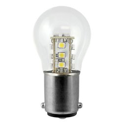 2 Watt - Dimmable Led - S8 - Sc Bayonet Base - 3000K Warm White - 12 Watt Equal - 12 Volt - Plt Led-Scbay-2-12