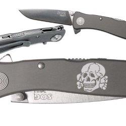 Skull Deathhead Ss Custom Engraved Sog Twitch Ii Twi-8 Assisted Folding Pocket Knife By Ndz Performance