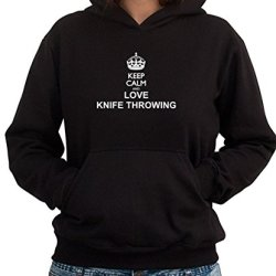 Keep Calm And Love Knife Throwing Women Hoodie