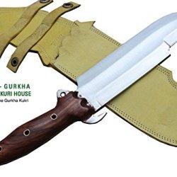 "8"" Blade Predator Survival Machete Military Kukri Knife - Full Tang Hand Forged Khukuri Or Khukris Handmade By Ex Gurkha Khukuri House In Nepal"