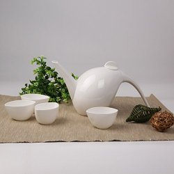 Granvela Tea Sets Tea Cups Pure Bone China Magpie Shape Designed Artworks A Pot Of 4 Cups
