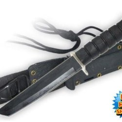 11.5 Inch Hand To Hand Combat Military Tanto Blade Knife Free Hard Sheath Usmc Marines Army