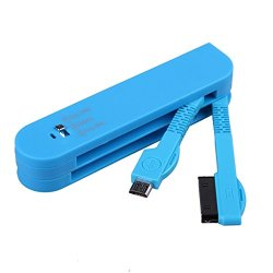 Foto4Easy Unique Swiss Army Knife 3 In1 Usb Data Sync Charger Cable 30Pin/8Pin/ Micro For Iphone 4 /4S/ 5/ 5S/ 5C/ Samsung S3/ S4/ Ipad 2/ 3/ 4/ Air (Blue)