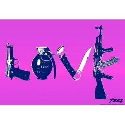 (13X19) Steez Love - Purple Art Poster Print