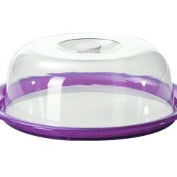 Kdg International Omada Globo Cake Tray With Dome, Plum