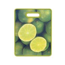 Farberware Non-Slip Lime Image Cutting Board, 11 By 14-Inch